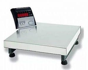 Balança Eletrônica Plataforma 150Kg x 50Gr Ramuza DP-150 Bandeja Inox