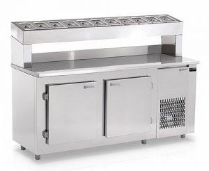 Balcão Refrigerado de Encosto Condimentaria 1,90Mts Gelopar GBPZ-190