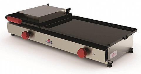 Chapa para Lanches com 01 Prensa e Chapa Maior a Gás Progás PR-880GN Style