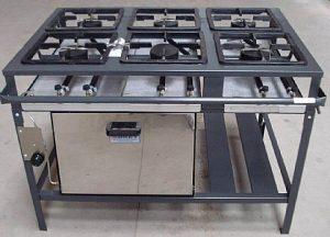 Fogão Industrial 6 Bocas Alta Pressão com Forno FE-506-F Metal Brey