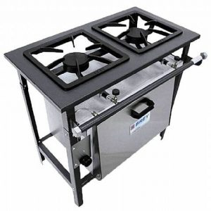 Fogão Industrial 2 Bocas com Forno FE-502-F Metal Brey